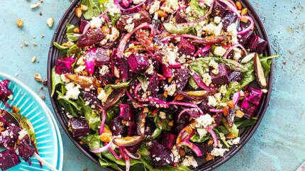 Рецепты лучших постных салатов со свеклой
